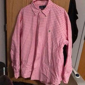 Polo Men's Pink Button Down, XL, Never Worn